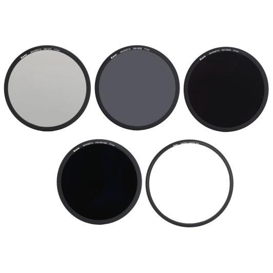 Kase Wolverine 82mm Magnetic Shockproof Tempered Optical Glass Filter Kit Includes Magnetic CPL MCUV ND64 Lens Cap /& Case 82
