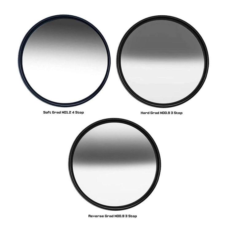 Kase Wolverine 82mm Reverse Grad ND0.9 Magnetic Shockproof Tempered Optical Glass Sunset Filter Incl Adapter 82 ND 0.9 3 Stop